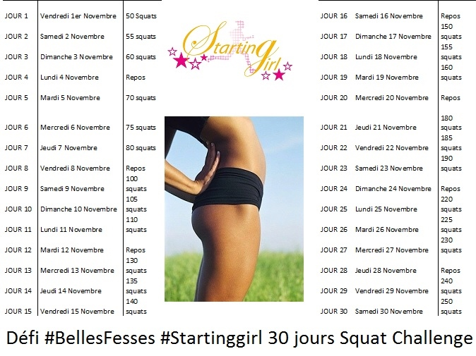8 femmes pour le d fi belles fesses programme challenge 30 jours squat starting girl. Black Bedroom Furniture Sets. Home Design Ideas