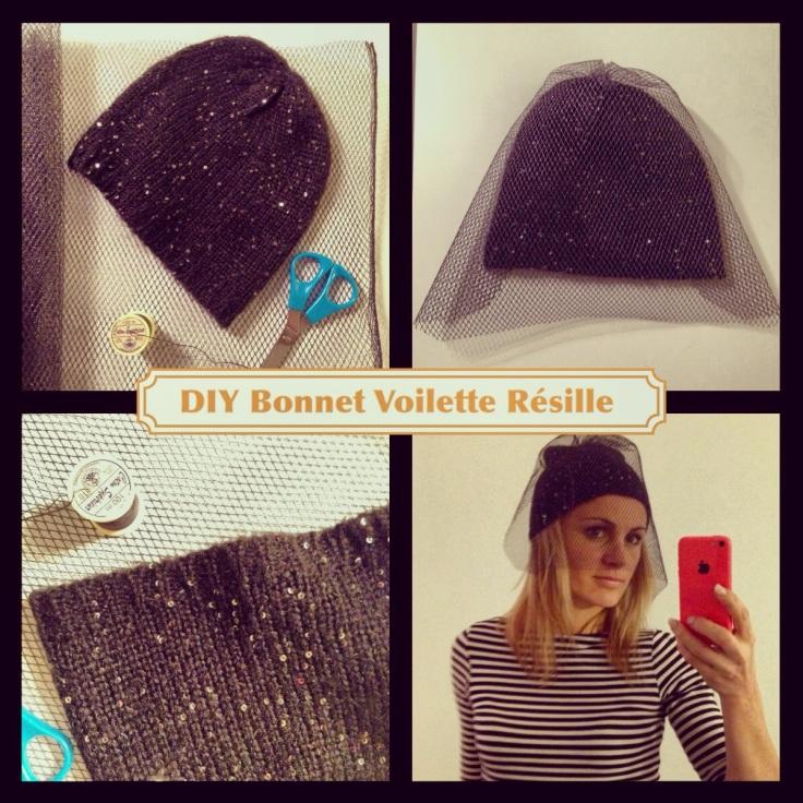 DIY BONNET VOILETTE