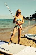 Paddle Noirmoutier starting girl plage des dames