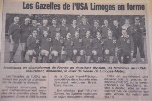 Les Gazelles de L'USA Limoges