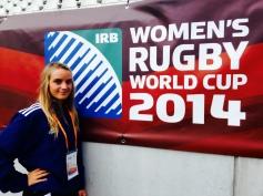Charlie, porte drapeau à la Coupe du Monde de rugby féminin