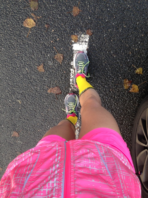 chaussettes néon
