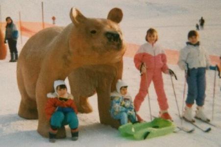Starting girl au ski